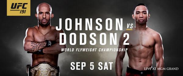 UFC 191 Fight Card